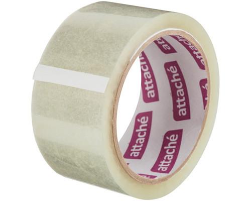 Клейкая лента упаковочная Attache прозрачная 48 мм x 60 м плотность 40 мкм - (129144К)