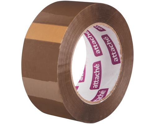 Клейкая лента упаковочная Attache коричневая 48 мм x 132 м плотность 45 мкм морозостойкая - (107248К)