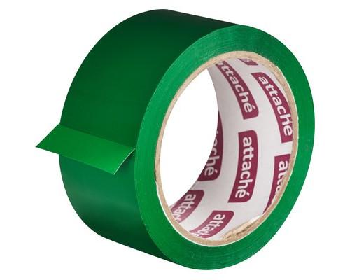 Клейкая лента упаковочная Attache зеленая 48 мм x 66 м плотность 45 мкм - (146161К)