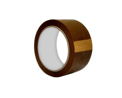 Клейкая лента упаковочная коричневая 48 мм x 55 м плотность 45 мкм - (455016К)