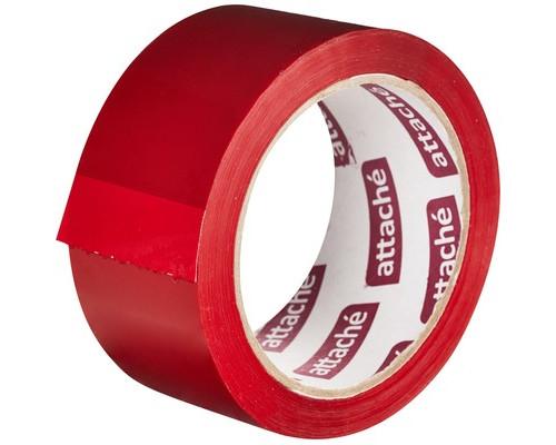 Клейкая лента упаковочная Attache красная 48 мм x 66 м плотность 45 мкм - (146158К)