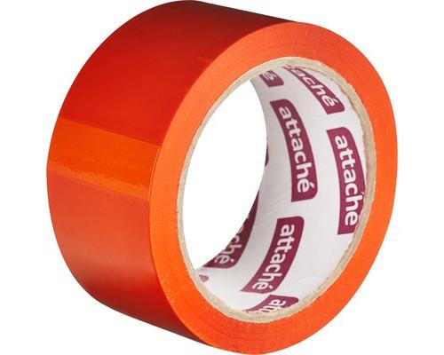 Клейкая лента упаковочная Attache оранжевая 48 мм x 66 м плотность 45 мкм - (146159К)