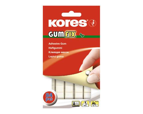 Клейкие монтажные квадраты двусторонние Kores Gum Fix белые 84 штуки в упаковке - (81596К)