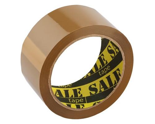Клейкая лента упаковочная коричневая 48 мм x 66 м плотность 40 мкм 6 штук в упаковке - (491328К)