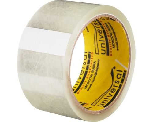 Клейкая лента упаковочная Universal прозрачная 48 мм x 45 м плотность 40 мкм - (46672К)