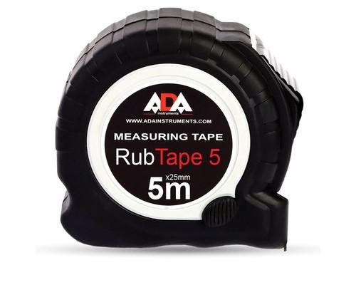 Рулетка ADA RubTape 5 метров стальная с двумя стопами - (484366К)