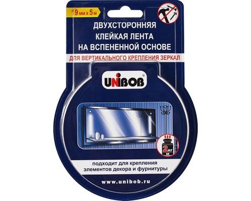 Клейкая лента монтажная двусторонняя Unibob белая 19 мм х 5 м для крепления зеркал - (371114К)