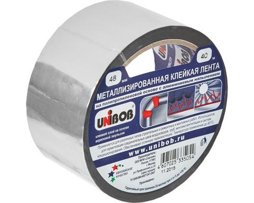 Клейкая лента металлизированная Unibob серая 48 мм x 40 м - (517319К)
