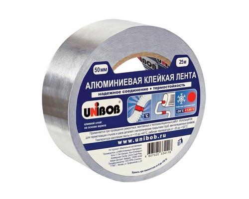 Клейкая лента алюминиевая Unibob 50 мм x 25 м - (517311К)