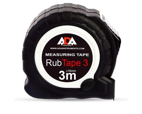 Рулетка ADA RubTape 3 метра стальная с двумя стопами - (484365К)
