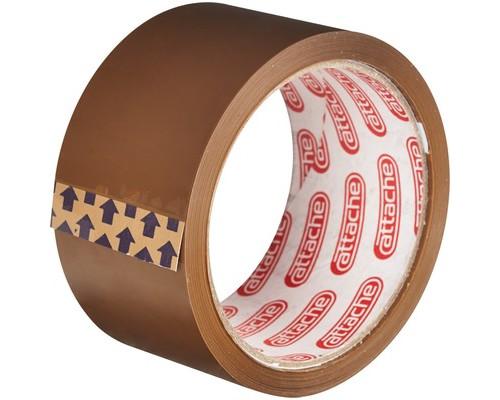Клейкая лента упаковочная Attache коричневая 50 мм x 50 м плотность 40 мкм - (143756К)