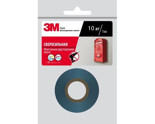 Клейкая лента монтажная двусторонняя 3M 12 мм х 1.5 м сверхсильная - (620709К)