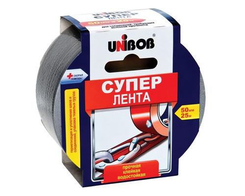 Клейкая лента армированная Unibob серая 50 мм x 25 м - (517309К)