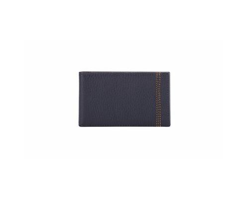 Визитница карманная FABULA Brooklyn V82BR на 40 визиток из натуральной кожи синего цвета - (612271К)