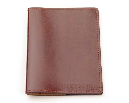 Обложка для паспорта Attache натуральная кожа коричневая - (202453К)