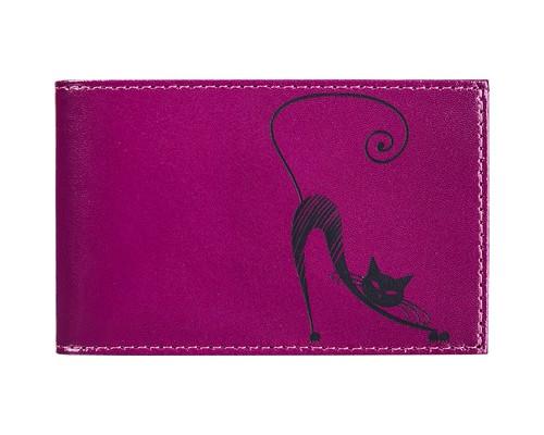 Визитница на 40 визиток Fabula Cats V37SH сливовый цвет - (329703К)