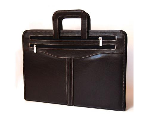 Папка-сумка Гамма 118м из искусственной кожи коричневого цвета - (131093К)