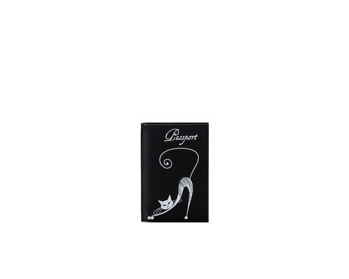 Обложка для паспорта Cats O31SH черная - (691786К)
