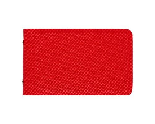 Визитница карманная Attache Selection V010103 на 32 визитки из искусственной кожи красного цвета - (458174К)