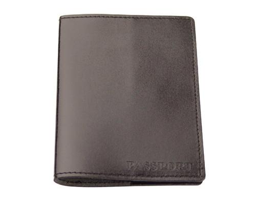 Обложка для паспорта Attache натуральная кожа черная - (202454К)