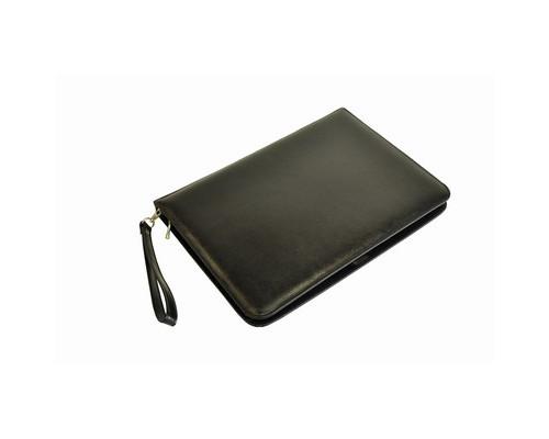 Папка деловая Grand 01-100-0713 из натуральной кожи черного цвета - (464606К)