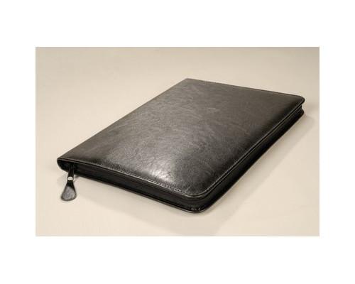Папка деловая Лидер м129 из искусственной кожи черного цвета - (92259К)