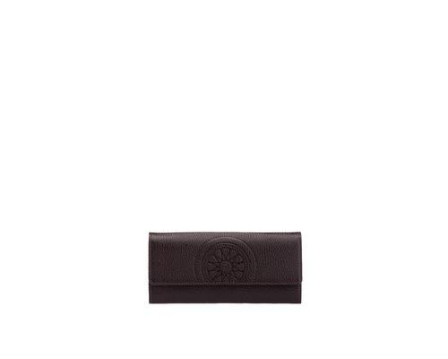 Портмоне женское FABULA Talisman PJ97SN из натуральной кожи шоколадного цвета - (398686К)