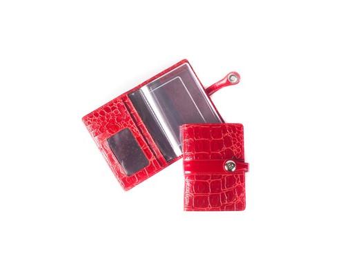 Обложка для автодокументов Grand 02-040-3251 кожаная красная - (456473К)