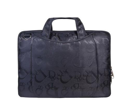 Папка-сумка Attache Ягуар из жаккарда черного цвета - (206068К)