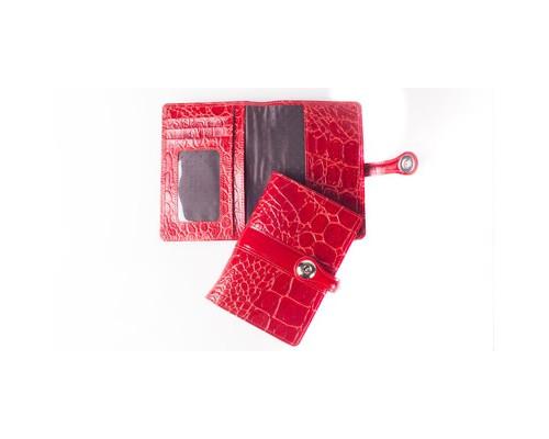 Обложка для паспорта Grand 02-012-3251 кожаная красная - (456471К)