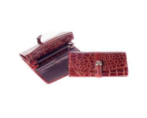 Портмоне женское Grand 02-259-3223 из натуральной кожи коричневого цвета - (456475К)