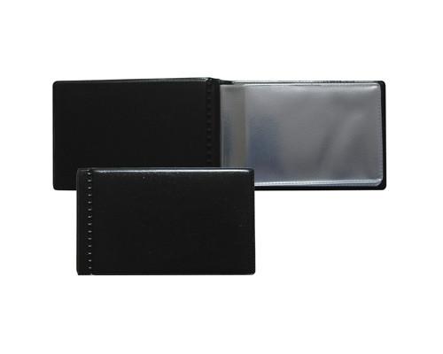 Визитница карманная Attache на 28 визиток из ПВХ черного цвета - (107238К)