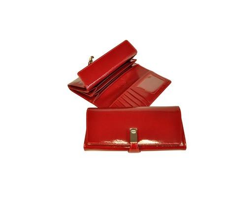 Портмоне женское Grand 02-208-0951 из натуральной кожи красного цвета - (466071К)