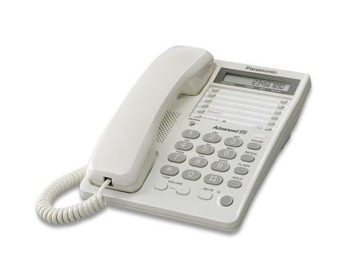 Телефон проводной Panasonic KX-TS2362RU белый - (33983К)