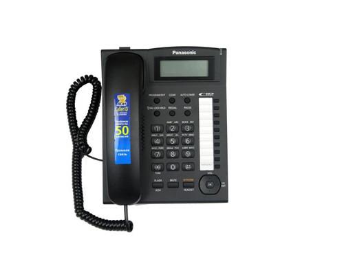 Телефон проводной Panasonic KX-TS2388RU черный - (217918К)