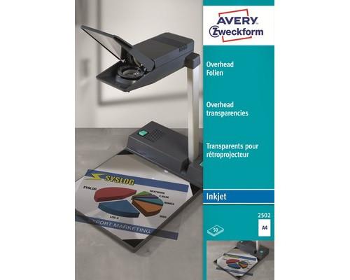 Пленка для проекторов Avery Zweckform Z2502 прозрачная А4 50 листов - (2694К)