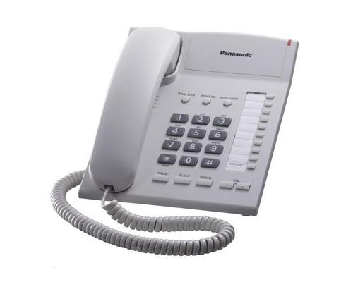 Телефон проводной Panasonic KX-TS2382RUW белый - (175458К)
