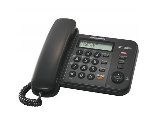 Телефон проводной Panasonic KX-TS2358RUB черный - (303738К)