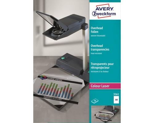 Пленка для проекторов Avery Zweckform Z3561 прозрачная А4 50 листов - (10814К)