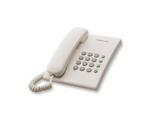 Телефон проводной Panasonic KX-TS2350 белый - (50413К)