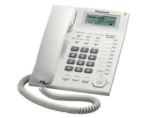 Телефон проводной Panasonic KX-TS2388 белый - (199118К)