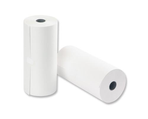 Ролик для телетайпов из газетной бумаги ProMega 210 мм диаметр 100 мм намотка 150-152 м втулка 26 мм - (25457К)