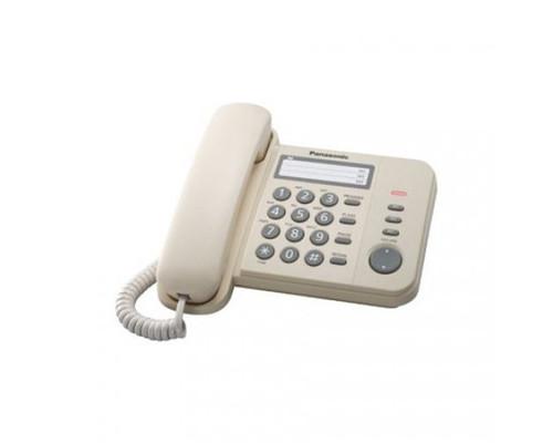 Телефон проводной Panasonic KX-TS2352RUJ бежевый - (303736К)