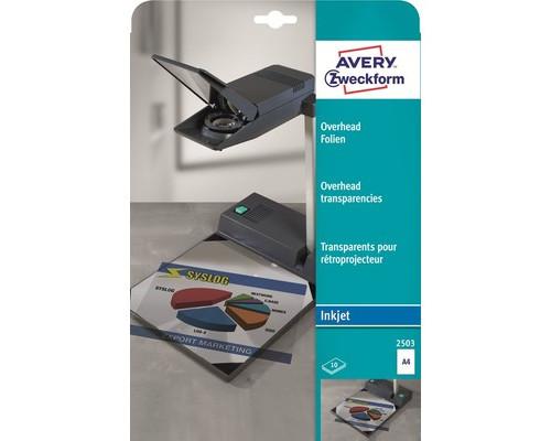 Пленка для проекторов Avery Zweckform Z2503 прозрачная А4 10 листов - (2851К)