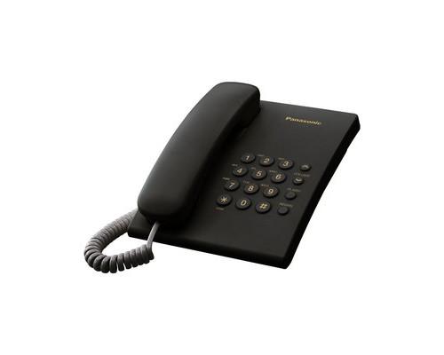Телефон проводной Panasonic KX-TS2350 черный - (71179К)