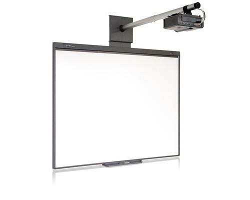 Комплект интерактивный доска Smart Board 480 77 деймов + ключ Smart Notebook 11 + проектор Smart V30 + универсальное крепление к проектору - (513422К)