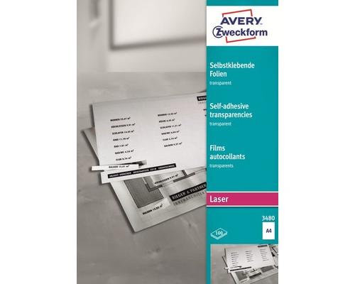 Пленка самоклеящаяся для проекторов Avery Zweckform Z3480 матовая А4 100 листов - (5797К)