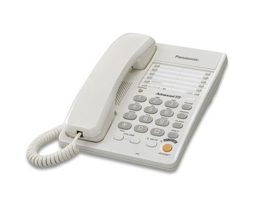 Телефон проводной Panasonic KX-TS2363RU белый - (43662К)