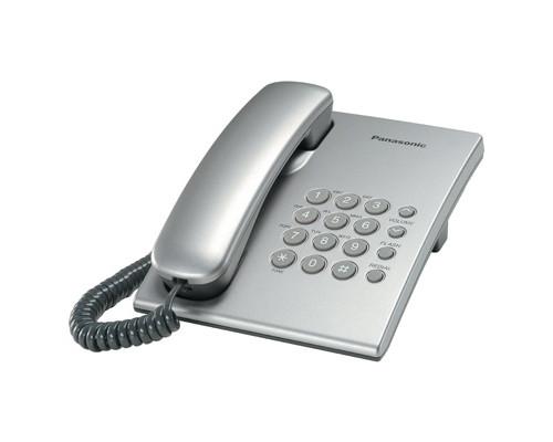 Телефон проводной Panasonic KX-TS2350RUS серебристый - (303732К)