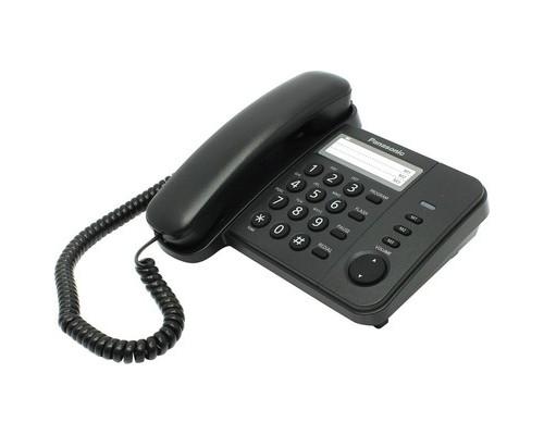 Телефон проводной Panasonic KX-TS2352RUB в ассортименте - (303734К)